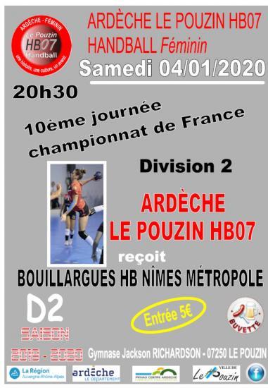 Affiche match 4 janvier 2020