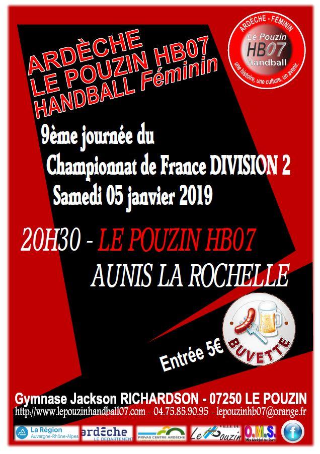 Affiche match 5 et 6 janvier 2019