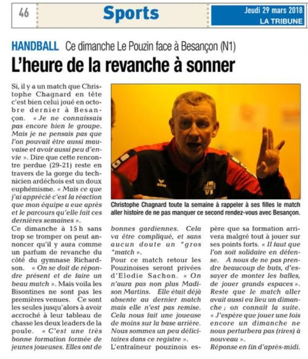 Article la tribune 29 mars 2019