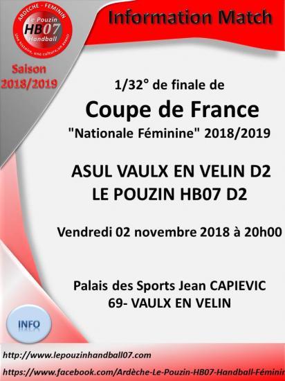 Coupe de france 2 11 2018