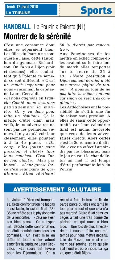 Hb07 la tribune 12 avril 2018