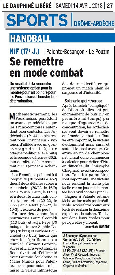 Hb07 pages sports 14 avril 2018