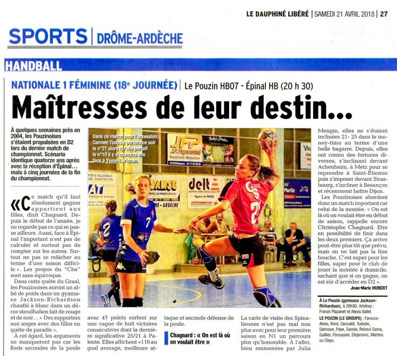 HB07 DL du 21 avril 2018 pages Sports Drôme-Ardèche