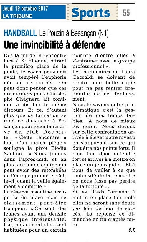 La tribune 19 octobre 2017