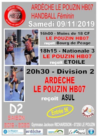 Match d2 9 novembre 2019