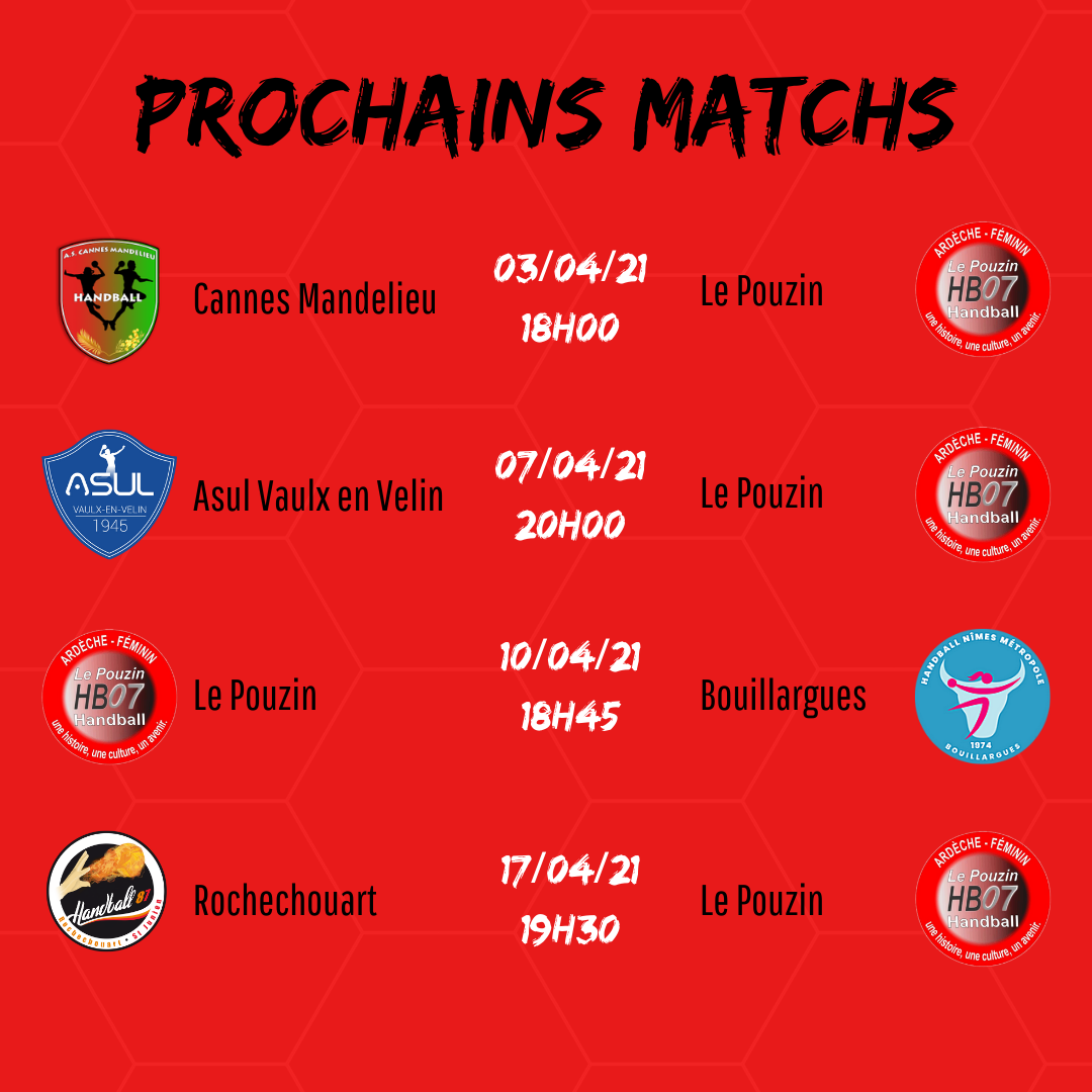 Prochains matchs 1