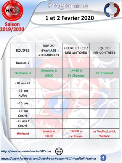 Programme 1 et 2 fevrier 2020