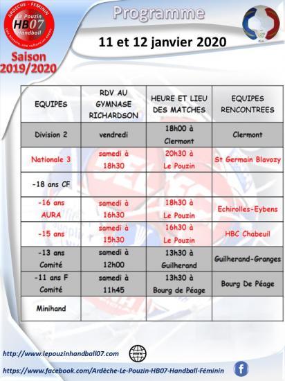 Programme 11 et 12 janvier 2020