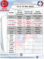 Programme 11 et 12 mai 2019