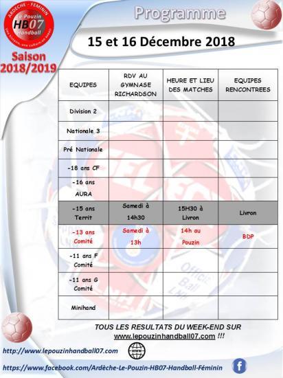 Programme 15 et 16 decembre 2018