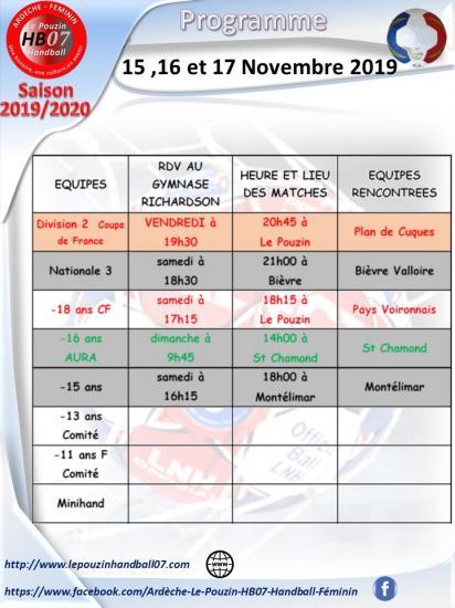 Programme 16 et 17 novembre 2019