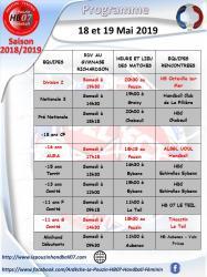 Programme 18 et 19 mai 2019