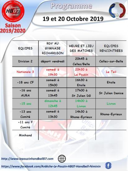Programme 19 et 20 octobre 2019