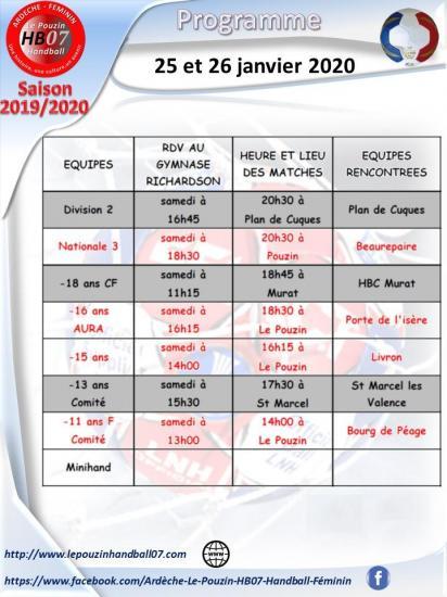 Programme 25 et 26 janvier 2020