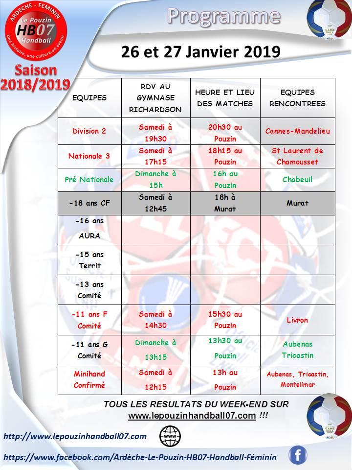 Programme 26 et 27 janvier 2020