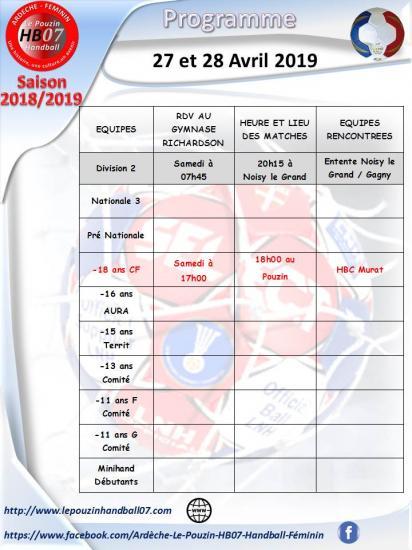 Programme 27 et 28 avril 2019 1