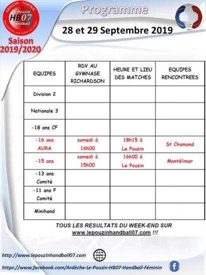 Programme 28 et 29 septembre 2019
