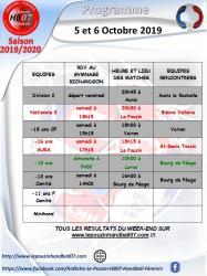 Programme 5 et 6 octobre 2019