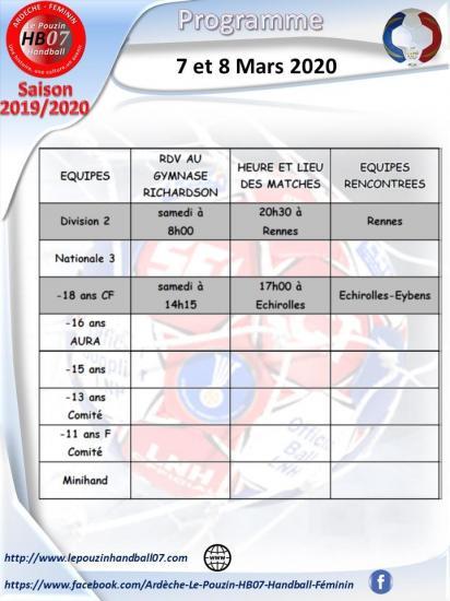 Programme 7 et 8 mars 2020