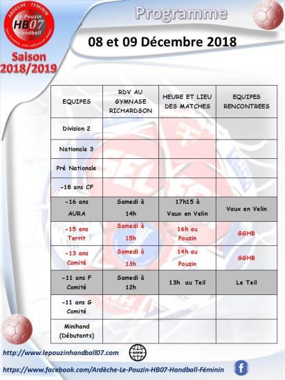 Programme 8 et 9 decembre 2018