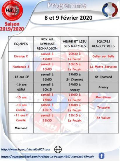 Programme 8 et 9 fevrier 2021