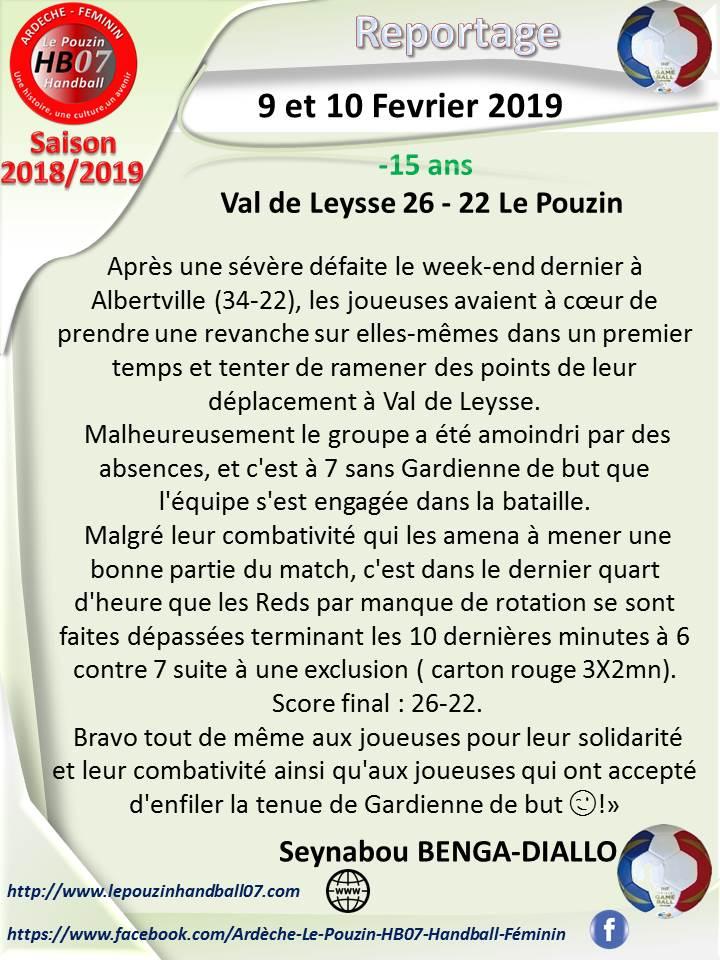 Reportage 15 9 et 10 fevrier 2019