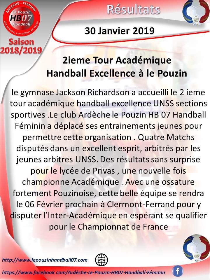 Resultat tour academique 2019